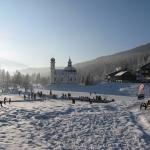 Langlaufen en schaatsen rondom de Seekirche