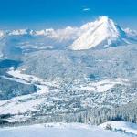 Uitzicht op Seefeld vanaf de skihelling